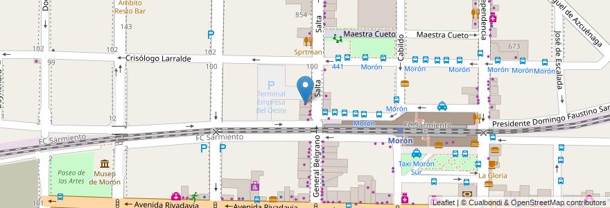 Mapa de ubicacion de Calce Mas en Argentina, Buenos Aires, Partido De Morón, Morón.