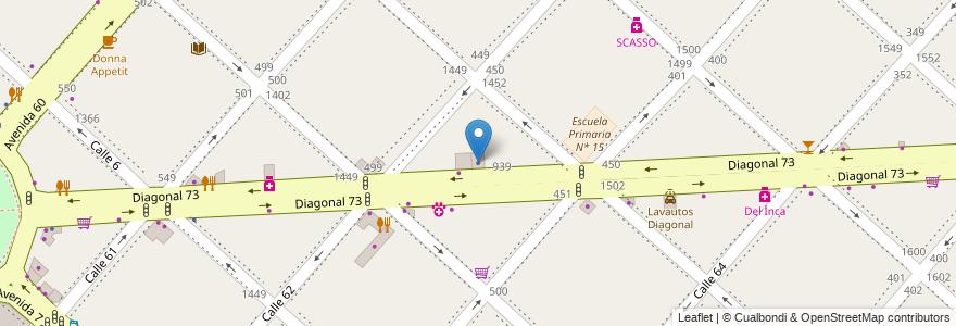 Mapa de ubicacion de Camara de Peluqueros y Peinadores, Casco Urbano en La Plata, Partido De La Plata, Buenos Aires, Argentina.