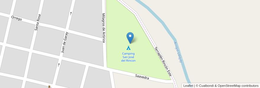 Mapa de ubicacion de Camping San José del Rincon en San José Del Rincón, Municipio De San José Del Rincón, Departamento La Capital, Santa Fe, Argentina.