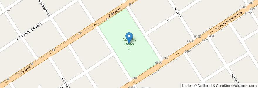 Mapa de ubicacion de Canarios Fútbol 5 en Burzaco, Partido De Almirante Brown, Buenos Aires, Argentina.