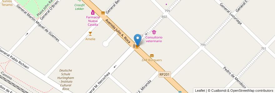Mapa de ubicacion de Candela - mate y café en Argentina, Buenos Aires, Partido De Hurlingham, Hurlingham.