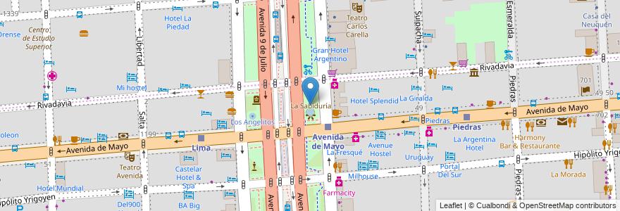 Mapa de ubicacion de Cantero Central Provincia de Misiones, Montserrat en Argentina, Ciudad Autónoma De Buenos Aires, Comuna 1, Buenos Aires.