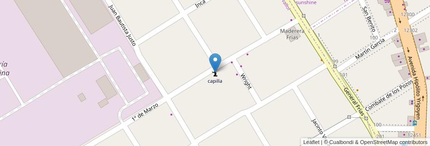 Mapa de ubicacion de capilla en Argentina, Buenos Aires, Partido De Lomas De Zamora, Llavallol.
