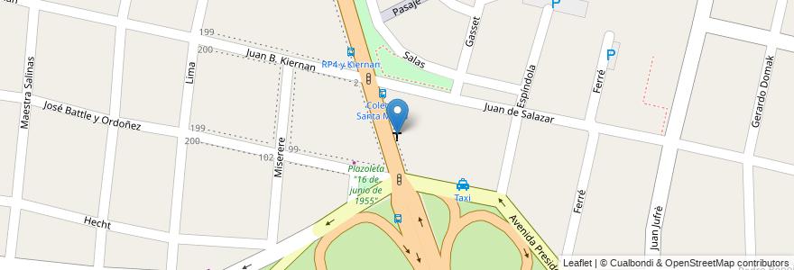 "Mapa de ubicacion de Capilla ""Santa Marta"" en Argentina, Buenos Aires, Partido De Hurlingham, Villa Tesei."