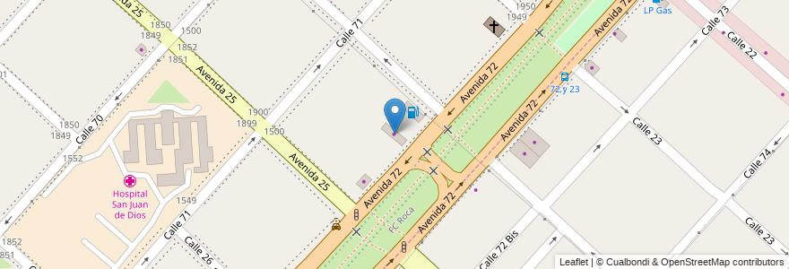 Mapa de ubicacion de Carattoli, Casco Urbano en Argentina, Buenos Aires, Partido De La Plata, La Plata.