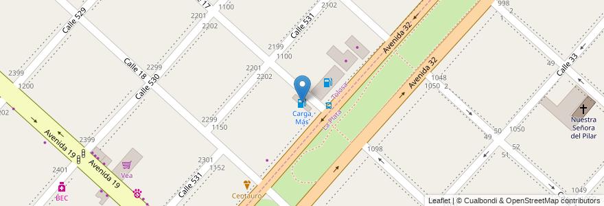 Mapa de ubicacion de Carga Más, Tolosa en Partido De La Plata, Buenos Aires, Argentina.