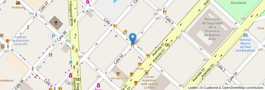 Mapa de ubicacion de Carne, Casco Urbano en La Plata, Partido De La Plata, Buenos Aires, Argentina.
