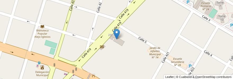 Mapa de ubicacion de Casa de Cultura, Villa Elisa en Villa Elisa, Partido De La Plata, Buenos Aires, Argentina.