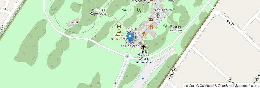 Mapa de ubicacion de Casa de Gobierno, Gonnet en Manuel B. Gonnet, Partido De La Plata, Buenos Aires, Argentina.