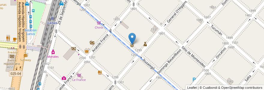 Mapa de ubicacion de Casa Popular Camilo Cienfuegos en Argentina, Buenos Aires, Partido De Lanús, Lanús Este.