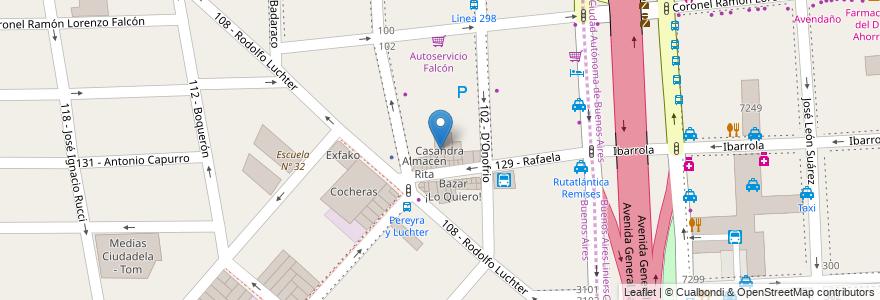 Mapa de ubicacion de Casandra en Argentina, Buenos Aires, Partido De Tres De Febrero, Ciudadela.