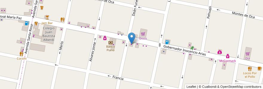 Mapa de ubicacion de Castelar en Argentina, Buenos Aires, Partido De Morón, Castelar.