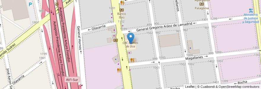 Mapa de ubicacion de CBC Montes de Oca, Barracas en Argentina, Ciudad Autónoma De Buenos Aires, Comuna 4, Buenos Aires.