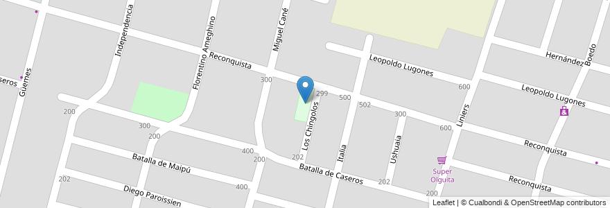 Mapa de ubicacion de Centro Cultural Villa Hortensia en Argentina, Chile, Mendoza, Departamento Maipú, Distrito Gutiérrez, Maipú.