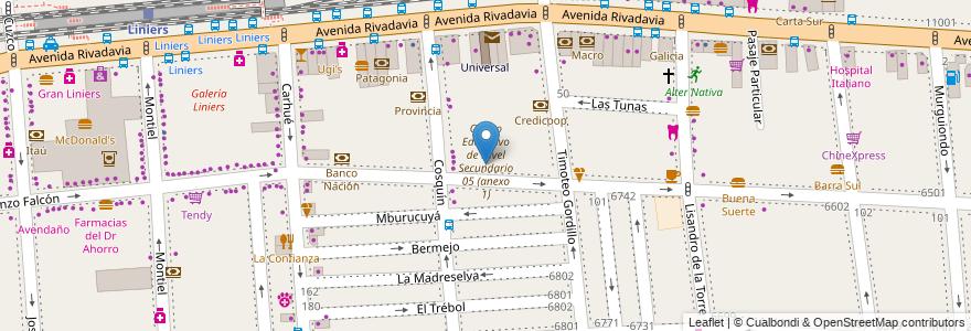 Mapa de ubicacion de Centro de Alfabetización, Educación Básica y Trabajo 30, Liniers en Argentina, Ciudad Autónoma De Buenos Aires, Buenos Aires, Comuna 9.