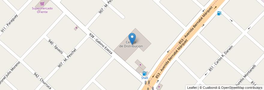 Mapa de ubicacion de Centro de Distribucion en Argentina, Buenos Aires, Partido De Tres De Febrero.