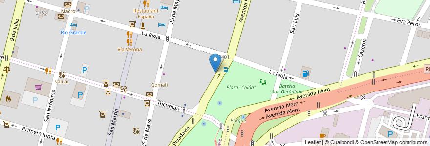 Mapa de ubicacion de Centro de Formación POETA en Santa Fe, Santa Fe Capital, Departamento La Capital, Santa Fe, Argentina.