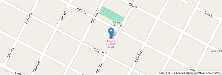 Mapa de ubicacion de Centro de Salud N 28, Gonnet en Manuel B. Gonnet, Partido De La Plata, Buenos Aires, Argentina.