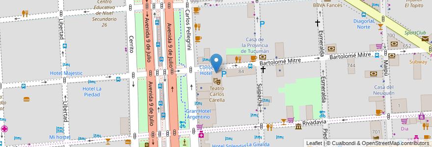 Mapa de ubicacion de Centro Educativo de Nivel Secundario 05 (sede), San Nicolas en Buenos Aires, Ciudad Autónoma De Buenos Aires, Argentina.