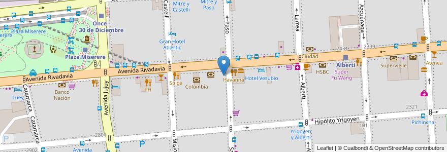 Mapa de ubicacion de Centro Educativo de Nivel Secundario 31, Balvanera en Argentina, Ciudad Autónoma De Buenos Aires, Comuna 3, Buenos Aires.