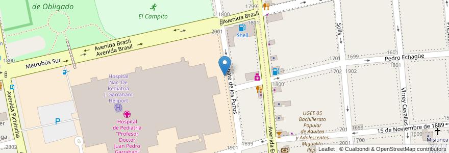 Mapa de ubicacion de Centro Educativo de Nivel Secundario 89, Parque Patricios en Argentina, Ciudad Autónoma De Buenos Aires, Comuna 4, Buenos Aires.