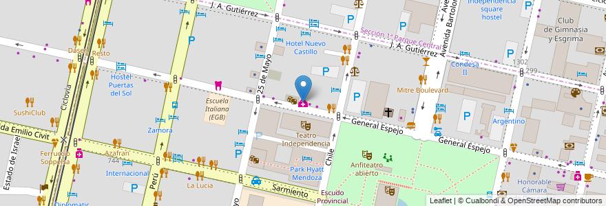 Mapa de ubicacion de Centro Urologico en Argentina, Chile, Mendoza, Departamento Capital, Ciudad De Mendoza.