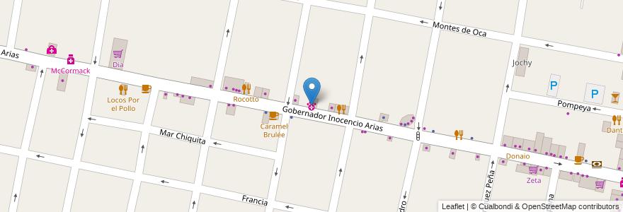 Mapa de ubicacion de Centro Veterinaria Arias en Argentina, Buenos Aires, Partido De Morón, Castelar.
