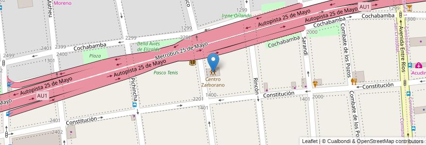 Mapa de ubicacion de Centro Zamorano, San Cristobal en Argentina, Ciudad Autónoma De Buenos Aires, Comuna 3, Buenos Aires.
