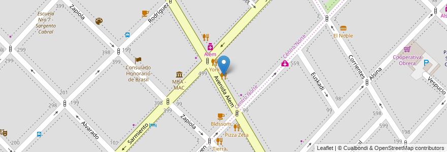 Mapa de ubicacion de Cervecería Artesanal Colonial en Bahía Blanca, Partido De Bahía Blanca, Buenos Aires, Argentina.