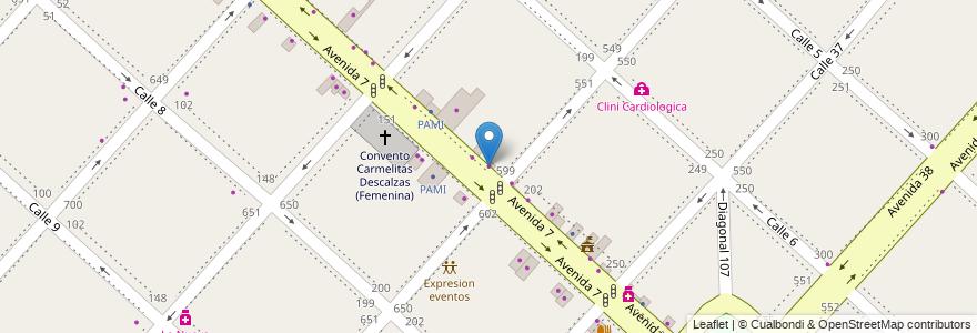 Mapa de ubicacion de Cesar W. Costa, Casco Urbano en Argentina, Buenos Aires, Partido De La Plata, La Plata.