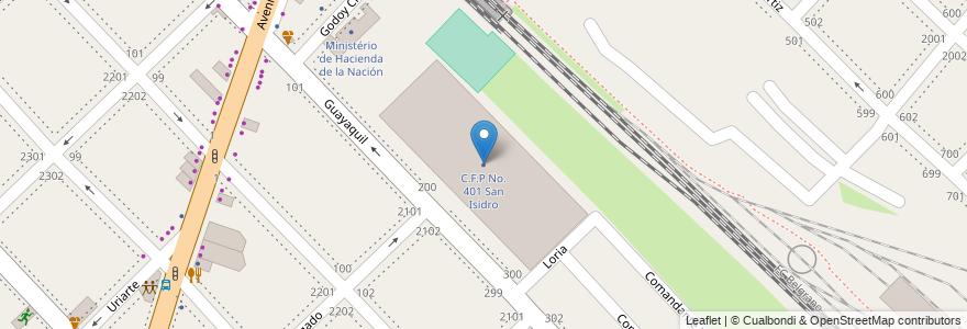 Mapa de ubicacion de C.F.P No. 401 San Isidro en Boulogne Sur Mer, Partido De San Isidro, Buenos Aires, Argentina.