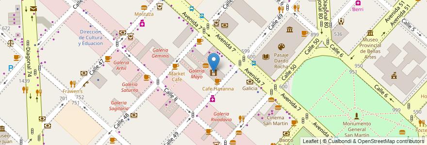 Mapa de ubicacion de Cinema Rocha, Casco Urbano en Argentina, Buenos Aires, Partido De La Plata, La Plata.