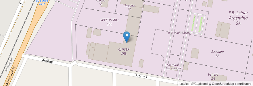 Mapa de ubicacion de CINTER SRL en Municipio De Sauce Viejo, Departamento La Capital, Santa Fe, Argentina.