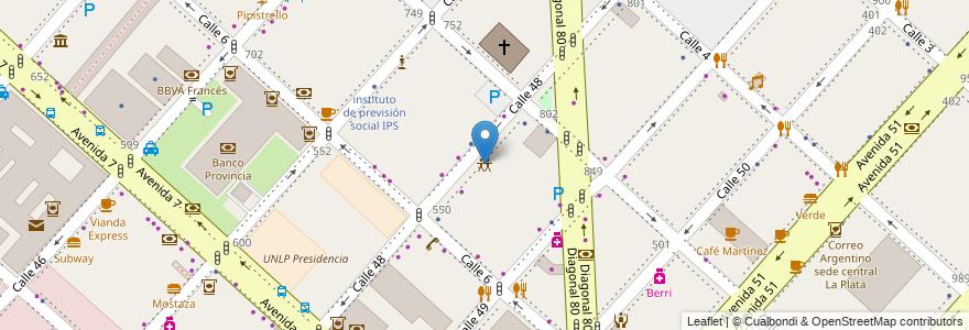 Mapa de ubicacion de Circulo de Periodistas, Casco Urbano en La Plata, Partido De La Plata, Buenos Aires, Argentina.