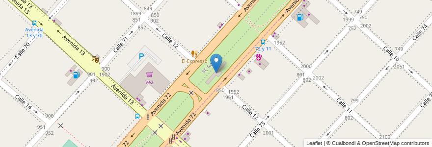 Mapa de ubicacion de Circunvalación, Casco Urbano en Argentina, Buenos Aires, Partido De La Plata.