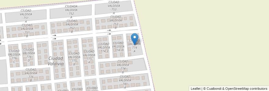 Mapa de ubicacion de CIUDAD VALDIVIA - 774 . A en Municipio De Salta, Capital, Salta, Argentina.