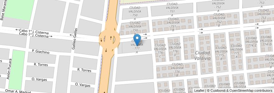 Mapa de ubicacion de CIUDAD VALDIVIA - 777 . A en Argentina, Salta, Capital, Municipio De Salta.