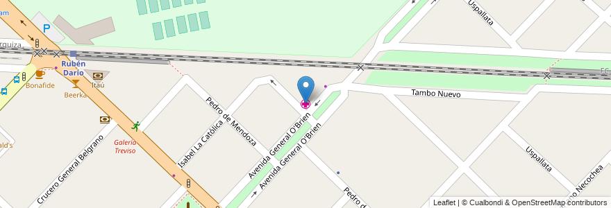 Mapa de ubicacion de Clinica Veterinaria 24hs en Argentina, Buenos Aires, Partido De Hurlingham, Hurlingham.