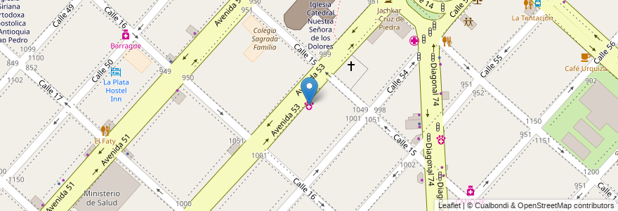 Mapa de ubicacion de Clinica Veterinária Avenida, Casco Urbano en Argentina, Buenos Aires, Partido De La Plata, La Plata.