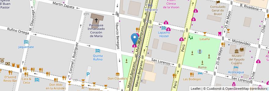 Mapa de ubicacion de Clinica Yoma en Argentina, Chile, Mendoza, Departamento Capital, Sección 5ª Residencial Sur, Ciudad De Mendoza.