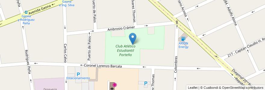 Mapa de ubicacion de Club Atlético Estudiantil Porteño en Argentina, Buenos Aires, Partido De La Matanza, Ramos Mejía.