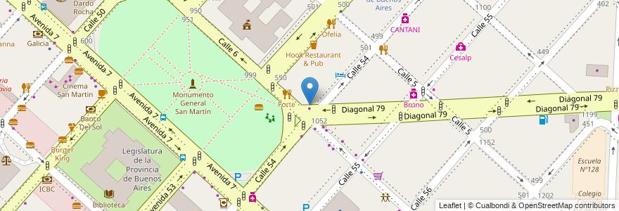 Mapa de ubicacion de Club de Ajedrez La Plata, Casco Urbano en La Plata, Partido De La Plata, Buenos Aires, Argentina.