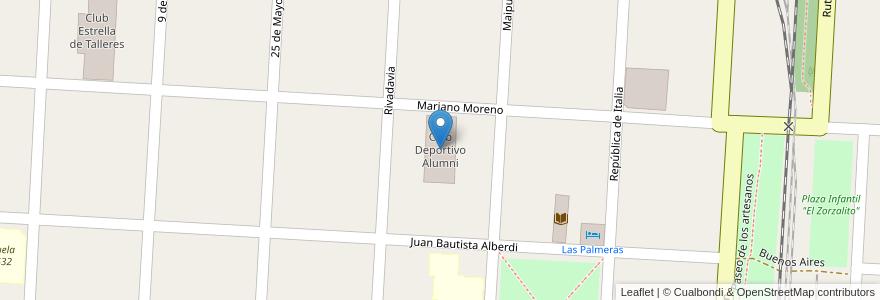 Mapa de ubicacion de Club Deportivo Alumni en Argentina, Santa Fe, Departamento La Capital, Municipio De Laguna Paiva.