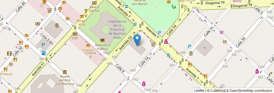 Mapa de ubicacion de Club Estudiantes de la Plata, Casco Urbano en La Plata, Partido De La Plata, Buenos Aires, Argentina.