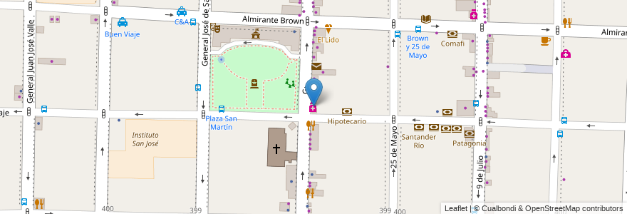 Mapa de ubicacion de Cogliatti Farmacia en Morón, Partido De Morón, Buenos Aires, Argentina.