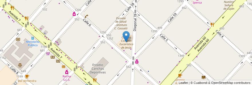 Mapa de ubicacion de Colegio Corazón Eucarístico de Jesús, Casco Urbano en La Plata, Partido De La Plata, Buenos Aires, Argentina.