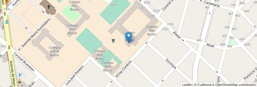 Mapa de ubicacion de Colegio Don Bosco en Argentina, Buenos Aires, Partido De La Matanza, Ramos Mejía.