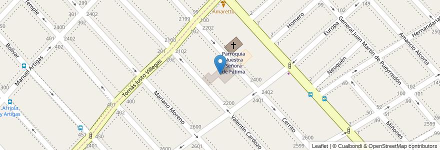 Mapa de ubicacion de Colegio Nuestra Señora de Fátima en Argentina, Buenos Aires, Partido De La Matanza, Lomas Del Mirador.