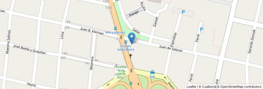 """Mapa de ubicacion de Colegio Parroquial """"Santa Marta"""" en Argentina, Buenos Aires, Partido De Hurlingham, Villa Tesei."""