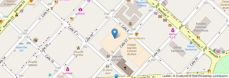 Mapa de ubicacion de Colegio Sagrado Corazón de Jesús. Nivel Primario, Casco Urbano en Argentina, Buenos Aires, Partido De La Plata, La Plata.
